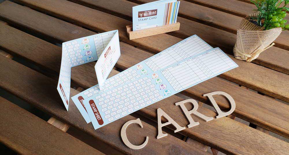 三つ折りカード制作例